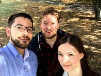 v.l.n.r. Tobias Linnenberg (Gründer), Michell Boerger (Software Entwickler) und Antonia Langula (PR)