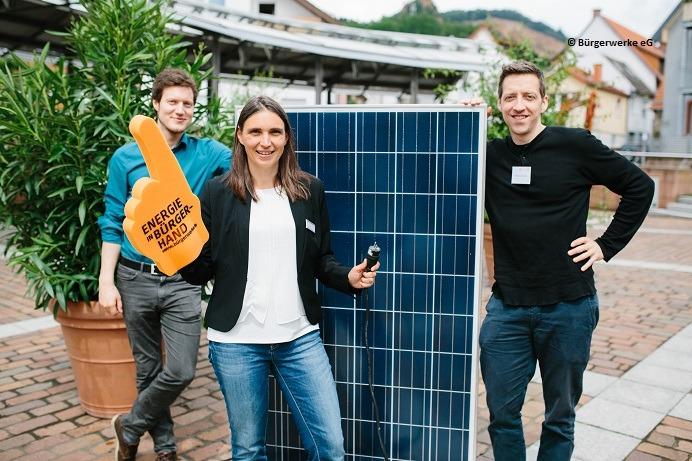 Energiebürger der Bürgerwerke mit Balkonmodul