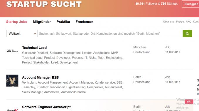 """STARTUP SUCHT"""" bringt Menschen zusammen – Grüne-Startups.de"""