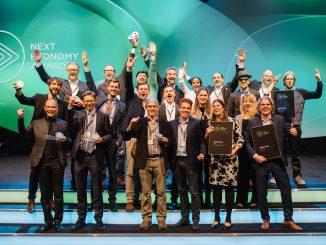 Die Sieger des 3. Next Economy Awards (2017) © Darius Misztal