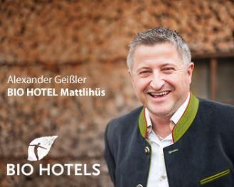 Alexander Geißler vom Bio-Hotel Mattlihüs