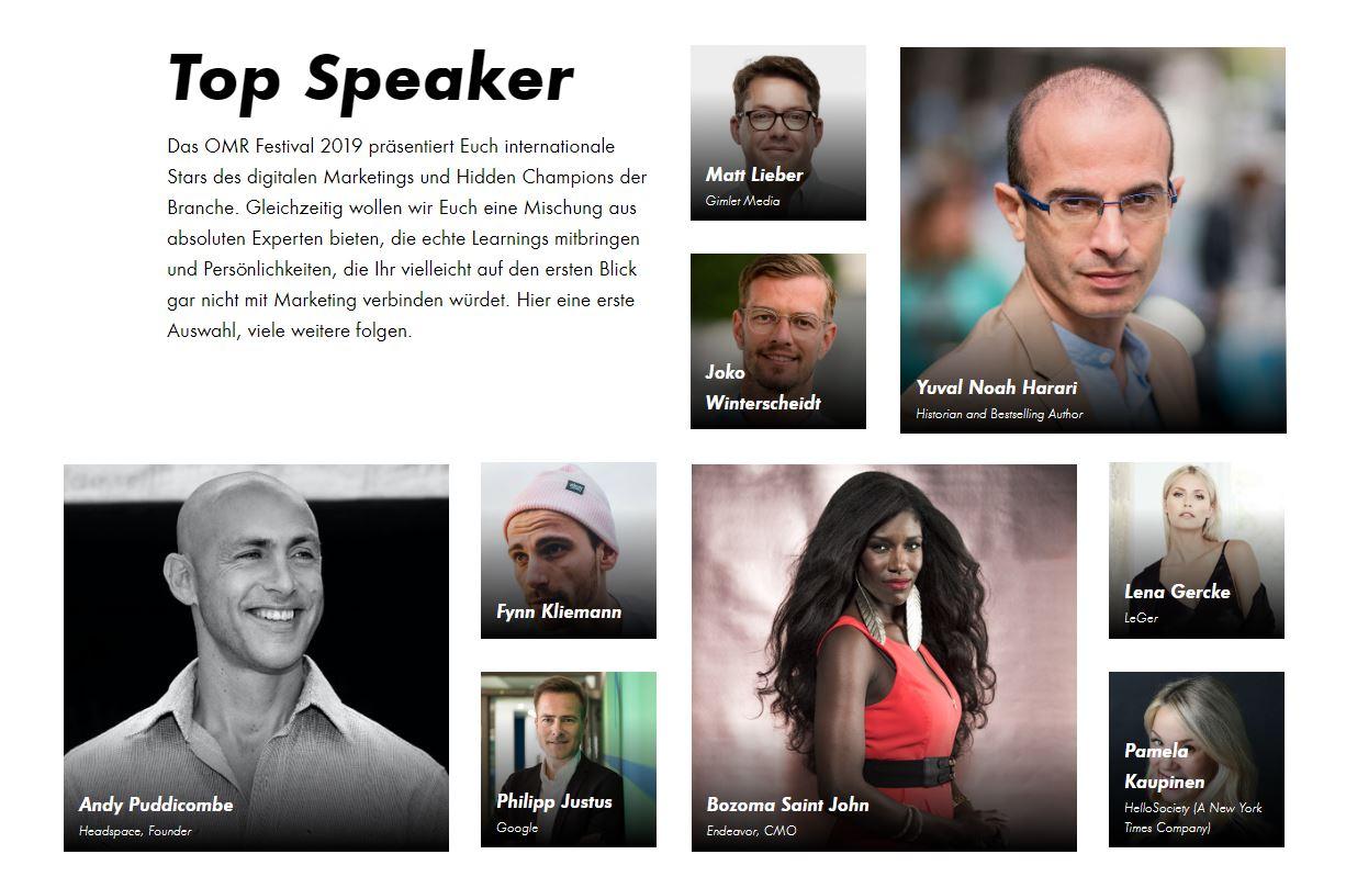 Top Speaker beim OMR Festival 2019