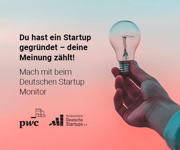 Aufruf zur Teilnahme am Deutschen Startup Monitor