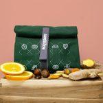 Snack-Tüüt grün, der nachhaltige Lunchbag